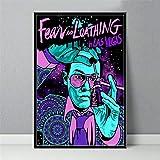 UVKLAEE Poster Miedo y asco en Las Vegas clásico de película y lienzos de Pintura Cuadros en la Pared Abstracta Decoración Paisaje (Color : 1, Size (Inch) : No Frame 60X90CM)