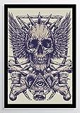 Zeichnung Totenkopf Auge Kunstdruck Poster -ungerahmt- Bild