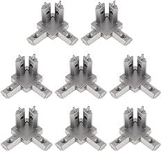 B Baosity 8X Bevestigingsbeugels Binnenhoekconnector Bevestigingsverbinding 90 graden Aluminium Industrie Deel 2020 EU