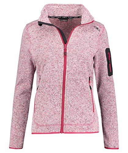 CMP Damen Fleecejacke Knitted Melange Fleece Jacket Bordeaux (502) 48