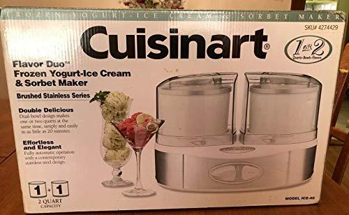 Cuisinart ICE-40 Flavor Duo Frozen Yogurt-Ice Cream & Sorbet Maker