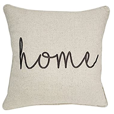 Trivenee Tex Pillowcase Embroidered Be Our Guest Home Bless This Mess Reserved Decorative Throw Pillow Cover Wedding Housewarming Home(Natural), 18 X18