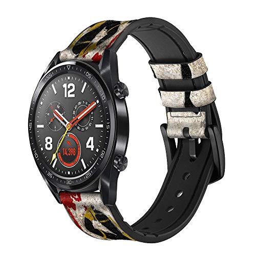 Innovedesire Muay Thai Kickboxing Fight Blood Correa de Reloj Inteligente de Cuero para Wristwatch Smartwatch Smart Watch Tamaño (18mm)