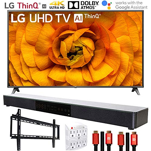 "LG 86UN8570PUC 86"" UHD 4K HDR AI Smart TV (2020) with Deco Gear Soundbar Bundle"