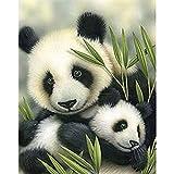 Puzzle 1000 Piezas Animal Lindo Panda Pintura bambú Cuadro Hecho a Mano Regalo Arte Puzzle 1000 Piezas Animales Juego de Habilidad para Toda la Familia, Colorido Juego de ubic50x75cm(20x30inch)