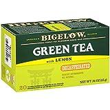 Bigelow Decaffeinated Green Tea with Lemon Tea Bags, 20 Count Box (Pack of 6), 120 Teabags Total