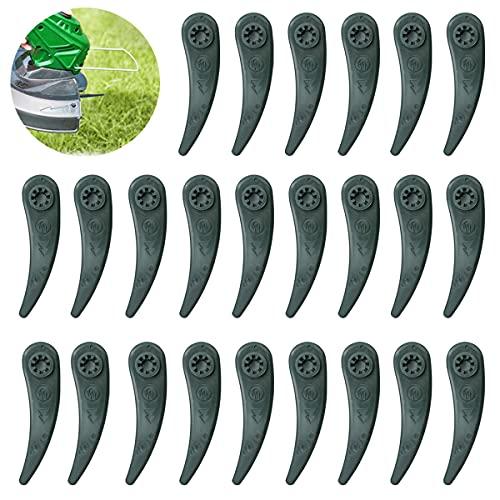 Rasentrimmer Messer,Kunststoff Ersatzmesser, Rasenmäherklinge Ersetzen, Ersatzmesser Plastik Kunststoff Messer Klingen für Bosch Durablade Trimmer Art 23-18 LI Art 26-18