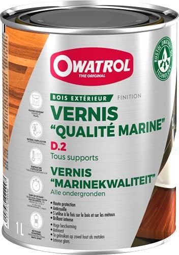 OWATROL – D2 – Vernis Bois Exotiques Brillants Durs Neufs et Anciens Extérieurs pour Portes...
