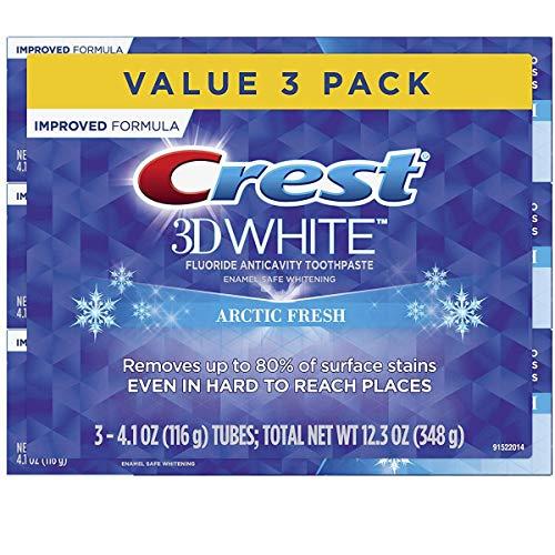Crest 3d White Creme Dental Clareador Importado Pack com 3 de 116g