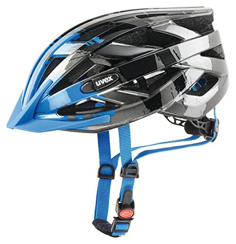 Uvex I-Vo C Fahrradhelm, dark silver - blue, 52-57 cm