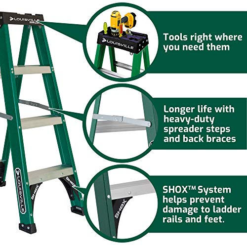 Louisville Ladder FS4004, 4 Feet, Green
