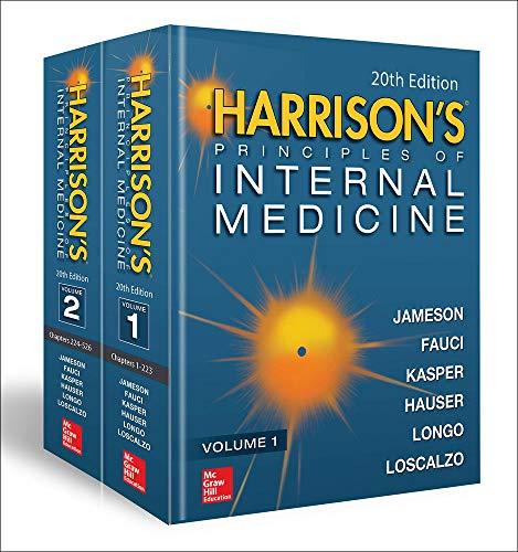 Compare Textbook Prices for Harrison's Principles of Internal Medicine, Twentieth Edition Vol.1 & Vol.2 20 Edition ISBN 9781259644030 by Larry Jameson, J.,Fauci, Anthony,Kasper, Dennis,Hauser, Stephen,Longo, Dan,Loscalzo, Joseph