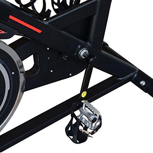 HOMCOM 8kg Flywheel Stationary Exercise Bike Racing Bicycle Home Fitness Trainer with Adjustable Resistance LCD Display Wheels Black