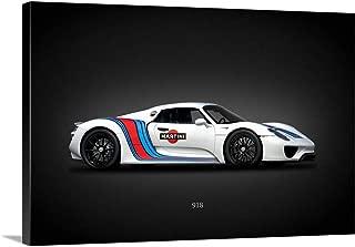 Porsche 918 Martini Canvas Wall Art Print, 18