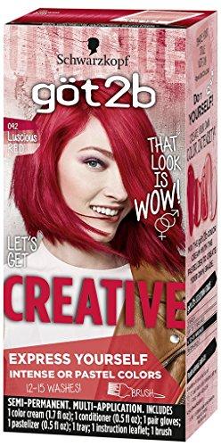Got2b Creative Semi-Permanent Hair Color, 092 Luscious Red