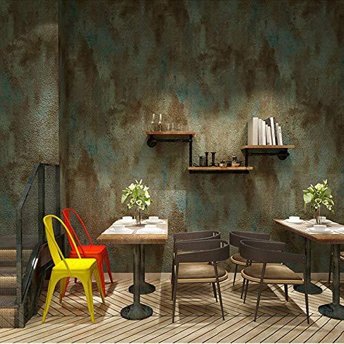 Yaohm PVC-behang 3D beton retro grijs restaurant café behang woonkamer waterdicht Uni Vintage