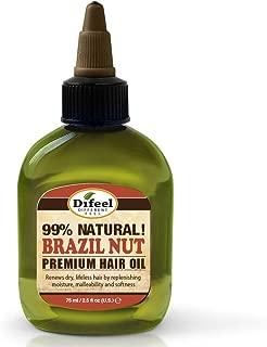 Difeel Brazil Nut Oil Premium Natural Hair Oil 2.5 Oz, 2.5 Ounces