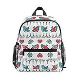 Mini mochila escolar bolsa de colegio para niños niñas patrón de pájaro decoración