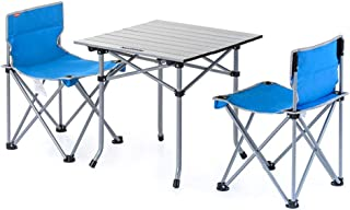 Desk Carrying Compact Lightweight Portable Folding Table Outdoor Camp Table Chair Mesh Chair Group Camping Trip Fishing Ba...