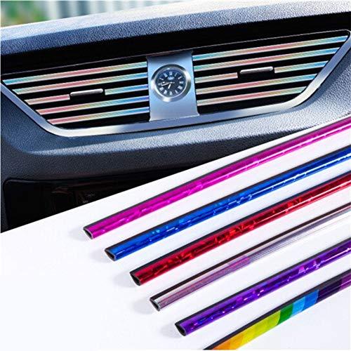 RONSHIN Auto Interieur Air Conditioner Outlet Vent Grille Strips Decoratie U Vorm Interieur Moulding Trim Strips IJs Rood