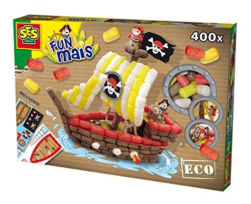 Ses France - 24975 - Kit De Loisirs Créatifs - Fun Maïs - Bateau Pirate