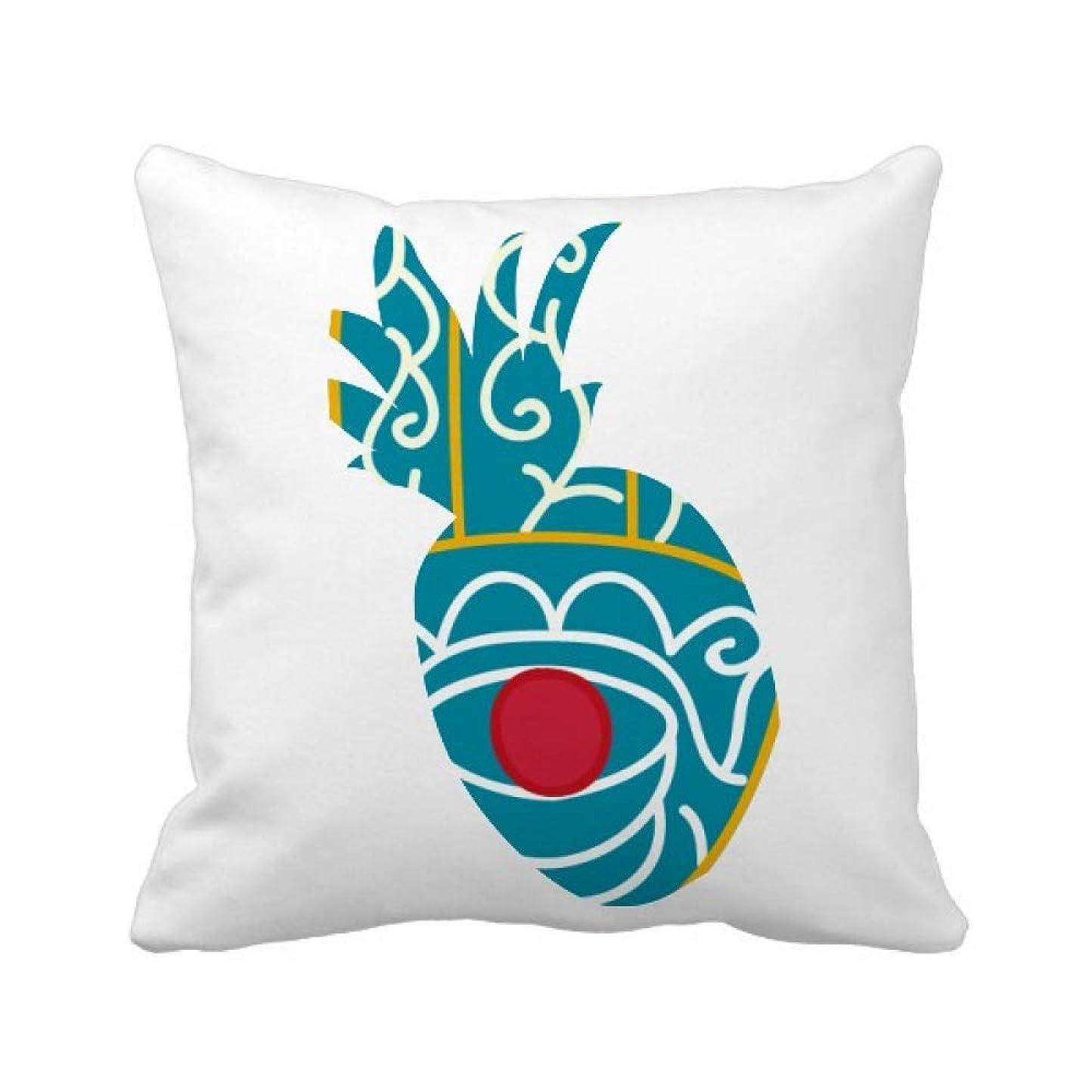 接地日記おしゃれじゃないエジプトのパターンの手に赤い目の芸術のパターン パイナップル枕カバー正方形を投げる 50cm x 50cm