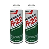 DiY Parts R22_ Refrigerant_ for Home AC Units use in 15 oz Puncture Style Containers (Qty of 2), Made in USA