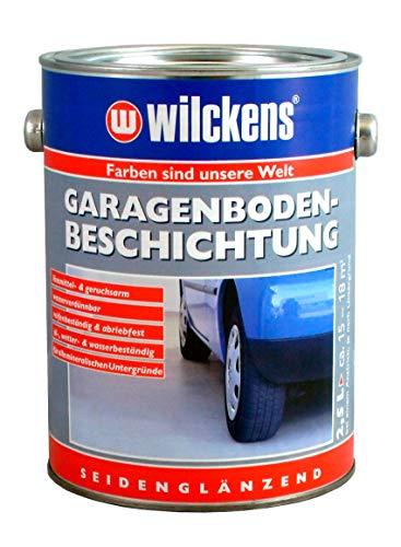 Garagenbodenbeschichtung Kieselgrau - RAL 7032 2,5l Beschichtung ca. 17,5 m² seidenglänzend Beton Boden Bodenfarbe Garage Betonversiegelung