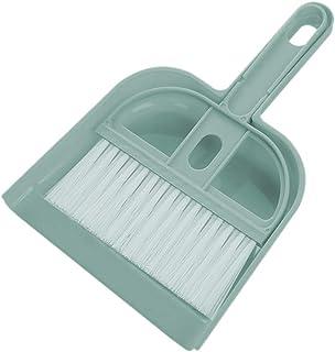 ほうき ちりとりセット ミニ 卓上用 掃除セット ほうきちりとりセット ホコリ取り テーブルブラシセット 室内 車 玄関 台掃除用 掃除道具 清掃用品 (ブルー)