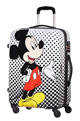 American Tourister Disney Legends - Spinner M - Children's Suitcase, 65 cm, 62.5 L, Multicolour (Mickey Mouse Polka Dot)