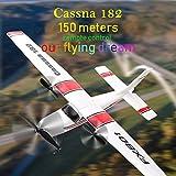 DZSF Avión Principiante RC Eléctrico De Control Remoto 150 Coche Avión Plano del Planeador Cassna 182 Más Batería Puede Mejorar Flying Time