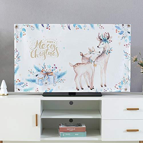 catch-L Interior Cubierta De TV A Prueba De Polvo Cubierta De La Pantalla LCD Cubierta Todo Incluido (Color : Elk, Size : 65inch)
