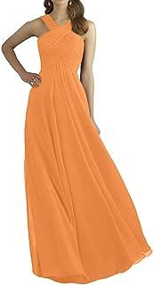 CladiyaDress Women Halter Neck Chiffon Floor Length Evening Dress Cocktail Gowns D211LF