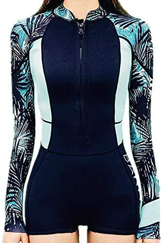 Badmode, Women's Outdoor Neopreen-Full Wetsuit Lange Mouwen Sneldrogend Surfen Suit Een Stuk Wetsuit (Size : L)
