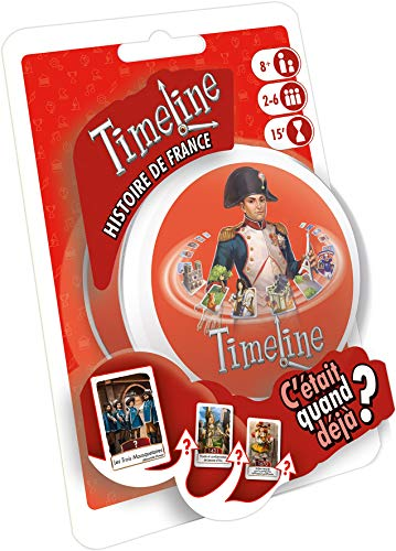 Asmodee Timeline Histoire de France, TIMECOFR, Jeu d'ambiance, Taille Unique