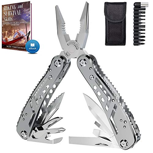 Multitool 24in1 with Mini Tools Knife Pliers and 11 Bits - Multi Tool All in One - Multi Function...