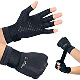 Copper Compression Arthritis Glove with Adjustable Strap - Guaranteed Highest Copper Content. Best Copper Glove for Carpal Tunnel, Arthritis, and Everyday Support for Wrists and Hands. Fit for Women and Men