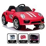 ATAA CARS Booster 6v Coche eléctrico para niños niños con Mando. Musica, Luces Rojo
