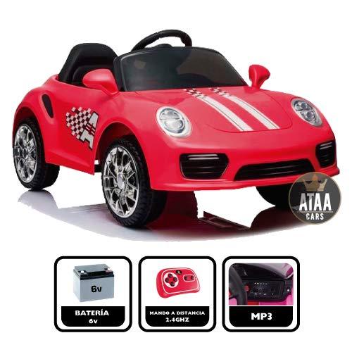 ATAA CARS Booster 6v Coche eléctrico para niños niños con Mando. Musica,...