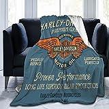 Harley Davidson - Colcha para sofá cama, manta de forro polar, abrazar y cómodo