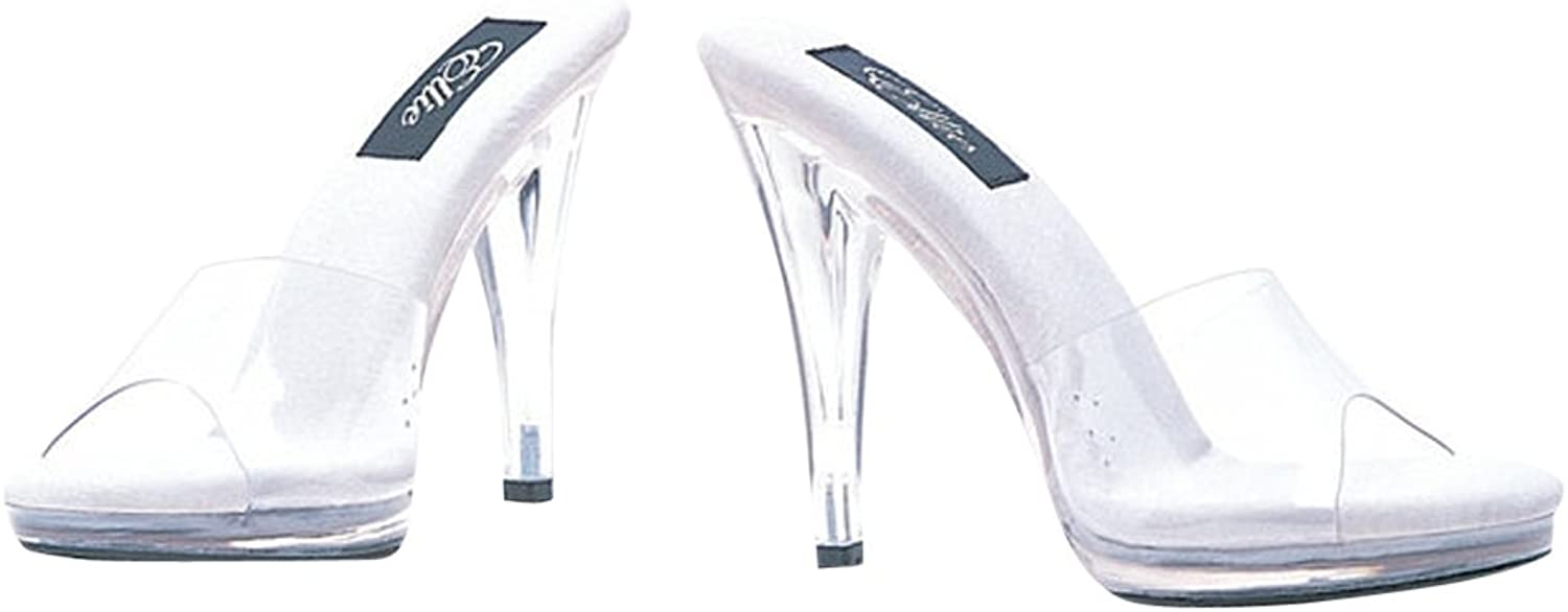 Sexy Fashions 4.5 Inch Heel Clear Mule Women's Size shoes (Clear;12)