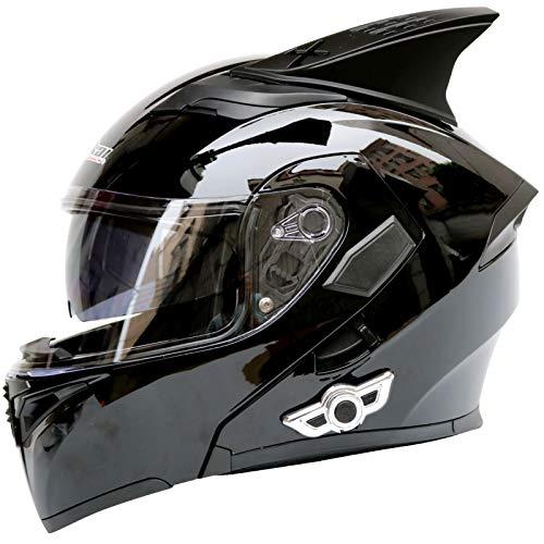 Casco Completo y Cubierta Completa Casco ECE Homologado Casco Integral Transpirable Universal Para Hombre Mujer para Ciclismo Motocicleta Bici Carrera A,L