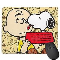 Snoopy スヌーピー マウスパッド 滑り止め ミニサイズ 高級感 耐久性 ゲーム用 ゲーミング コンピューターマウス 薄型 小型 便利 防水 高級感 パソコン オフェス ステッチエッジ レーザー&光学マウス対応 おもしろい おしゃれ かわいい キャラクター 30*25cm 厚さ 3mm