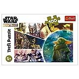 Trefl- Baby Yoda, Star Wars 100 Teile, für Kinder AB 5 Jahren Puzle, Multicolor (16413)