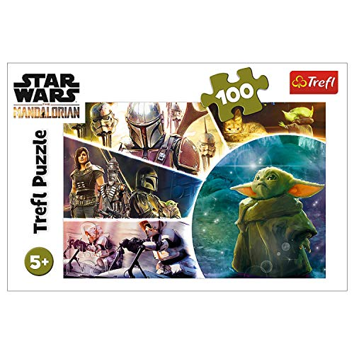 Trefl 16413 - Star Wars Mandalorian - Baby Yoda - 100 Pieces Puzzles for Kids