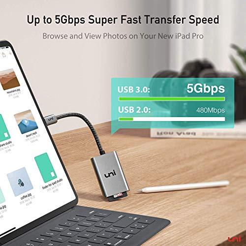 USB C auf Micro SD + SD Kartenleser, uni SD Adapter[Thunderbolt 3], kompatibel für Chromebooks und viele weitere Notebooks - 3
