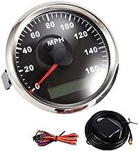 Partol MPH GPS Speedometer Odometer Digital Speed Gaug 160MPH With Backlight Waterproof Universal for Car Truck ATV UTV Motorcycle Marine Boat, 85mm