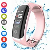Fitness Tracker Activity Smart Bracelet Wristband with Heart Rate Monitor Pedometer Step Calorie