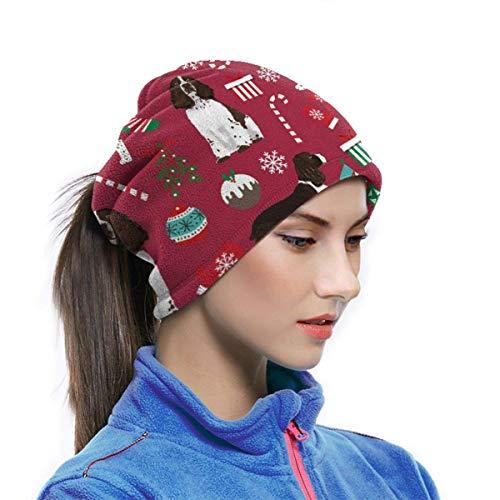 Bandana Pañuelo para la cara Polvo Viento UV Protección solar Cuello Polaina Tubo Sombreros Ess Christmas Marroon