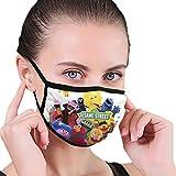 Ses-Ame Street Face - Protector bucal personalizado para hombre, para acampar, escuela, ejercicio matutino